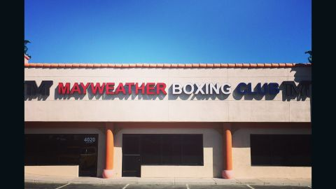 """Floyd Mayweather Jr.'s boxing gym in Las Vegas, Nevada -- home to the """"Money Team"""" stable of fighters."""
