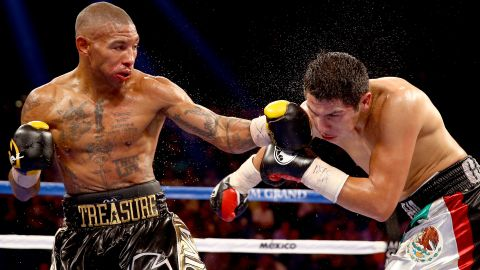 """""""Caring, compassionate ... and a comedian; he's always joking around in the locker room,"""" Theophane says of the undefeated champ who welcomed him into his stable of fighters.  """"I lost my first fight under him but Floyd said, 'Don't worry, we'll get you back there.' So I've had four wins in 12 months, now I'm back on the TV. Floyd is a man of his word."""""""