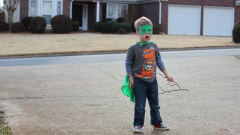 Gilbert Hanks (son of CNN's Henry Hanks) in suburban Atlanta, Georgia makes up his own characters.