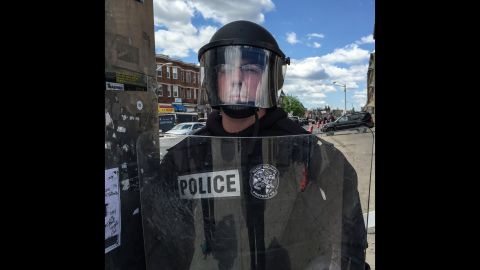 """Protesters seemed most concerned that the police might take """"any small provocation as an excuse for a larger action,"""" Larson said."""