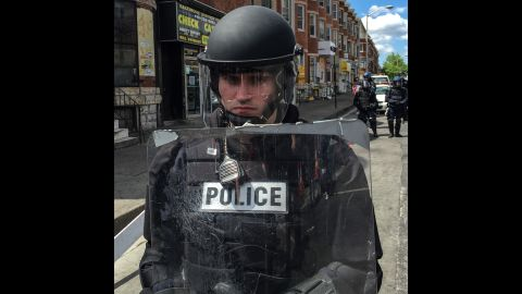 """See photos <a href=""""http://www.cnn.com/2015/04/29/us/gallery/baltimore-protests-cleanup/index.html"""">people cleaning up after the riots</a> in Baltimore, including at this same corner."""