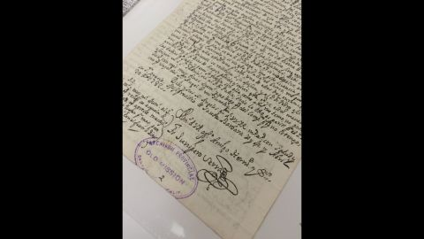 Serra often corresponded about the California missions as he evangelized Native Americans in the late 1700s. This letter is written by Serra's own hand and is kept in a climated-controlled vault at Old Mission Santa Barbara.