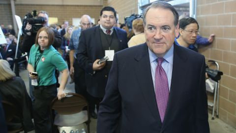 Huckabee, here at a the Iowa Ag Summit in March 2015, served two terms as governor.