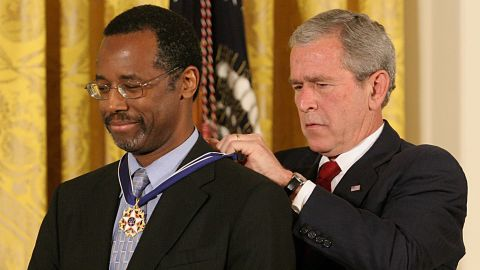 Before his jump into conservative politics, Carson was known for his work as a neurosurgeon. Carson was awarded the Presidential Medal of Freedom by then-President George W. Bush on June 19, 2008. At that time, he was the director of pediatric surgery at Johns Hopkins Hospital in Baltimore, Maryland.