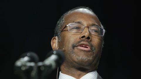 Carson speaks during the National Prayer Breakfast at the Washington Hilton on February 7, 2013, in Washington.