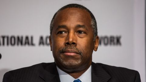 Ben Carson attends the National Action Network (NAN) national convention at the Sheraton New York Times Square Hotel on April 8, 2015 in New York City.