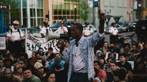 """Close to 300 protesters in Columbus, Ohio, attend a solidarity march for Baltimore on Saturday, May 2.  People in cities across the United States have showed their support for <a href=""""http://www.cnn.com/2015/04/23/us/gallery/freddie-gray-protest/index.html"""">protesters in Baltimore</a>. Click through the gallery to see more:"""