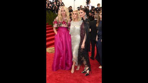 From left: Keren Craig, Ellie Goulding and Georgina Chapman