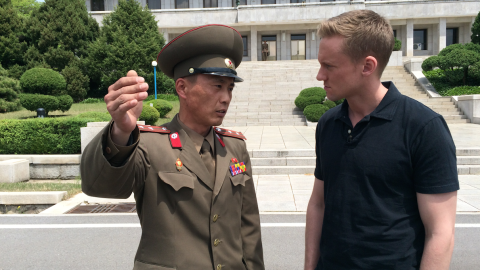 """CNN correspondent Will Ripley and photojournalist Brad Olson traveled to North Korea after the regime offered them <a href=""""http://www.cnn.com/2015/05/02/asia/cnn-inside-north-korea/index.html"""" target=""""_blank"""">a surprise invitation to return</a> to one of the most mysterious countries on earth. They aren't sure why the invitation was offered, what to expect, or even how long they'd be there. Check out the pictures they've taken to document their journey. <strong>HERE: </strong>Junior Lt. Colonel Nam Dong Ho speaks with Will Ripley, who was granted rare access to the DMZ on Monday, May 4, 2015."""