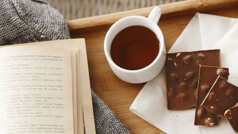 You may not think as much about drinking several cups of tea at once, or chowing down on a bar of dark chocolate—both of which can contain nearly as much caffeine as a cup of coffee, which is going to make stress even worse.