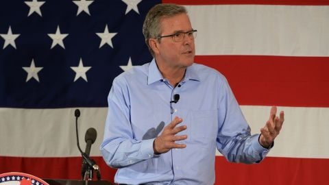 Former Florida Gov. Jeb Bush speaks at the First in the Nation Republican Leadership Summit April 17, 2015 in Nashua, New Hampshire. The Summit brought together local and national Republicans and was attended by all the Republicans candidates as well as those eyeing a run for the nomination.