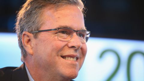 Former Florida Governor Jeb Bush fields questions from Bruce Rastetter at the Iowa Ag Summit on March 7, 2015 in Des Moines, Iowa. The event allows the invited speakers, many of whom are potential 2016 Republican presidential hopefuls, to outline their views on agricultural issue.