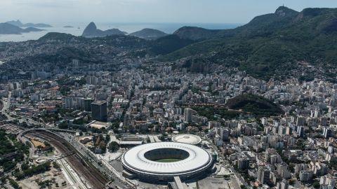 Aerial view of the Mario Filho (Maracana) stadium in Rio de Janeiro, Brazil, on December 3, 2013. The Maracana stadium will host the Brazil 2014 FIFA World Cup and the 2016 Summer Olympics. AFP PHOTO / YASUYOSHI CHIBA JAPAN OUT (Photo credit should read YASUYOSHI CHIBA/AFP/Getty Images)