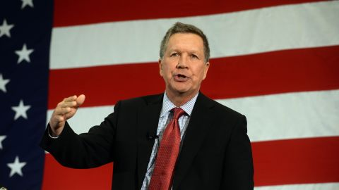 Ohio Gov. John Kasich speaks at the First in the Nation Republican Leadership Summit on April 18, 2015 in Nashua, New Hampshire. The Summit was attended by all the 2016 Republican candidates as well as those eyeing a run for the nomination.