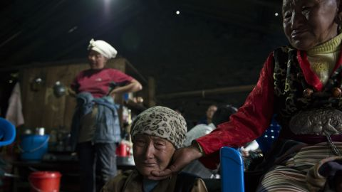 Dawa Chiri Sherpa's mother mourns her son, the climbing guide who died at the base camp. The family was upset that it took two days before his body was returned to them.