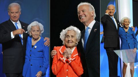 """Vice President Joe Biden's mother, Jean Biden, passed away at 92 on January 8, 2010. In his 2008 acceptance speech as Obama's running mate, Biden said """"My mother's creed is the American creed: No one is better than you. You are everyone's equal, and everyone is equal to you."""""""