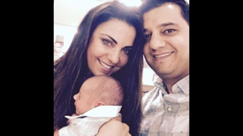 Haseeb and Christy Amireh with their son, Grayson.