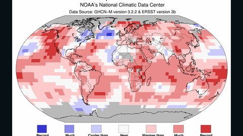 March 2015 is the hottest March globally on record