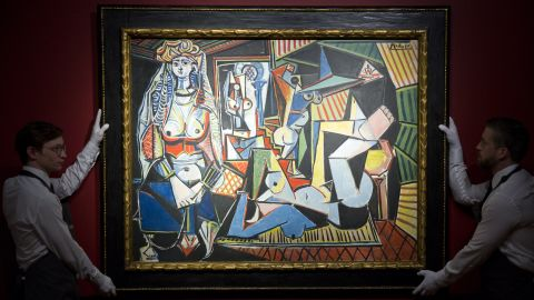 """Picasso's """"<a href=""""http://money.cnn.com/2015/05/10/luxury/picasso-auction-new-record/index.html"""" target=""""_blank"""">Les femmes d'Alger (Version 'O')</a>"""" went under the hammer Monday, May 11, at Christie's in New York. The Picasso sold for a record $179,365,000."""