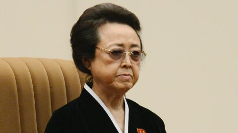In this Dec. 16, 2012 photo, Kim Kyong Hui, who is North Korean leader Kim Jong Un's aunt, attends a national memorial service on the eve of the first anniversary of the death of late leader Kim Jong Il in Pyongyang, North Korea. (AP Photo/Kyodo News/AP) JAPAN OUT, MANDATORY CREDIT