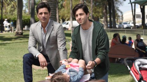 """John Stamos is back on TV (when he's not doing the Netflix """"Full House"""" revival) on """"Grandfathered"""" as a bachelor who is surprised to learn he has two generations of kids. It airs Tuesdays at 8 p.m. on Fox."""