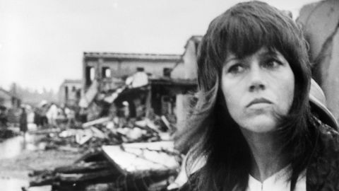 """In July 1972, in the midst of the Vietnam War, actress Jane Fonda visited the North Vietnamese city of Hanoi and criticized the U.S. role in the war, leading many to call her """"anti-American."""" Earlier this year, Fonda called the trip an """"incredible experience"""" but expressed some regret. """"It hurts me, and it will to my grave, that I made a huge, huge mistake that made a lot of people think I was against the soldiers,"""" <a href=""""http://www.fredericknewspost.com/z/content_type/news_article/jane-fonda-hopes-for-open-dialogue-with-vietnam-era-veterans/article_f76347a9-d99c-56d1-85a8-af1bc5432524.html"""" target=""""_blank"""" target=""""_blank"""">Fonda said during an appearance</a> in Frederick, Maryland."""