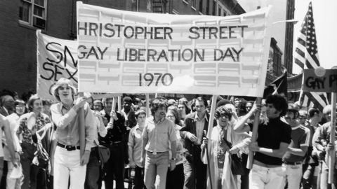 Gay rights activists Foster Gunnison and Craig Rodwell lead a gay rights march in New York on June 28, 1970, then known as Gay Liberation Day. The march was held on the first anniversary of the police raid of the Stonewall Inn, a popular gay bar in New York's Greenwich Village. The raid led to demonstrations and protests by the gay community. The Stonewall riots helped bring together the gay community in New York, and by 1971 gay rights groups had formed in almost all of the major cities in America.
