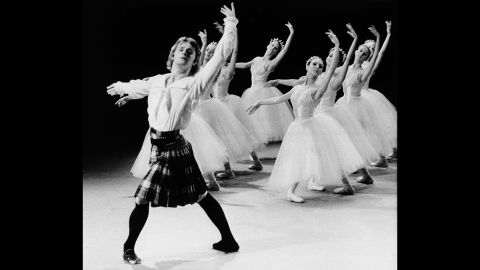 """Russian dancer Mikhail Baryshnikov, left, tapes a TV special in Canada, where he defected in June 1974. Soon after, Baryshnikov moved to the United States and started working with the New York City Ballet and the American Ballet Theatre. In 1979, he earned an Academy Award nomination for his supporting role in the film """"The Turning Point."""""""