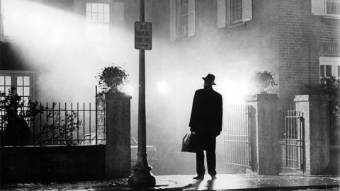 """""""The Exorcist,"""" based off the best-selling novel by William Peter Blatty about a demonically possessed 12-year-old girl, was released in December 1973. It went on to become one of the most popular films of all time. It was the first horror film to be nominated for a Best Picture Oscar, and Blatty won the Academy Award for Best Adapted Screenplay."""