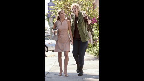 """""""Glee"""" star Jane Lynch, right, comes to CBS as a """"brassy"""" self-described guardian angel in """"Angel from Hell."""""""