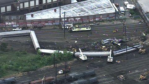 Amtrak train derailment in Philadelphia