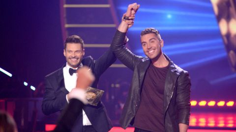 """Seacrest, left, named Nick Fradiani the winner of season 14 of """"American Idol"""" in May 2015. While his single """"Beautiful Life"""" was <a href=""""http://fox13now.com/2015/05/14/american-idol-winner-fradiani-to-sing-official-song-for-fox-fifa-womens-world-cup/"""" target=""""_blank"""" target=""""_blank"""">the official theme for the seventh FIFA Women's World Cup</a>, his 2016 album """"Hurricane"""" didn't generate much energy. He parted ways with his record label last year and is currently an indie artist."""