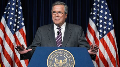 Former Florida Governor Jeb Bush speaks at the Reagan Library after autographing his new book 'Immigration Wars: Forging an American Solution' on March 8, 2013 in Simi Valley, California. Bush discussed the leadership and policy changes he believes are required to turn the country around.