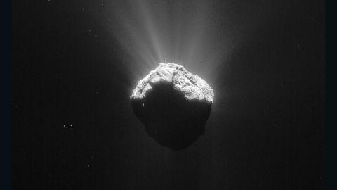 This image of Comet 67P/Churyumov-Gerasimenko was taken on April 15, 2015.