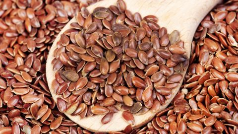 Flaxseed is packed with fiber. One tablespoon has about 3 grams, so a little goes a long way. Add a few grains of this nutty-flavored seed to your yogurt parfait or salad, or grind it and add to meatloaf or other recipes.