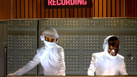 """French electronic duo Daft Punk often add robotic effects to their voices -- unsurprisingly given their personas -- and have used Auto-Tune very prominently in their dance hit <a href=""""https://www.youtube.com/watch?v=FGBhQbmPwH8"""" target=""""_blank"""" target=""""_blank""""><em>One More Time</em></a><em>.</em>"""