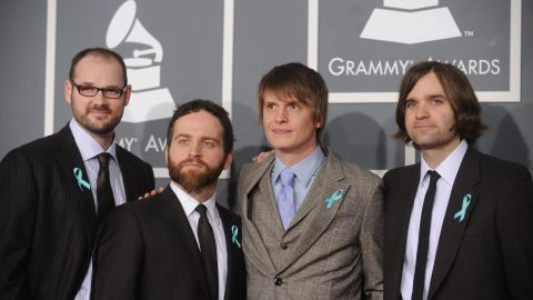 """American band Death Cab for Cutie showed up at the 2009 Grammy Awards wearing blue ribbons, which turned out to signal their desire to <a href=""""http://www.mtv.com/news/1604710/death-cab-for-cutie-raise-awareness-about-auto-tune-abuse/"""" target=""""_blank"""" target=""""_blank"""">""""raise awareness about autotune abuse.""""</a>"""