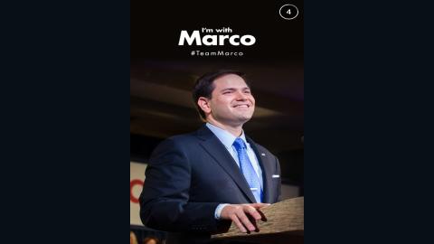 Republican presidential hopeful Marco Rubio joins Snapchat