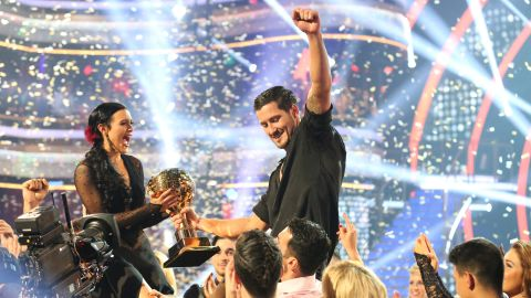 """Rumer Willis and Val Chmerkovskiy were crowned the 20th season champions and winners of the mirror ball trophy on the """"Dancing with the Stars"""" season finale."""