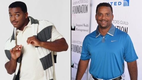 """Alfonso Ribeiro will always be identified with Will's preppy cousin Carlton Banks, <a href=""""https://www.youtube.com/watch?v=zS1cLOIxsQ8"""" target=""""_blank"""" target=""""_blank"""">who even has a dance named after him.</a> In 2014, Ribeiro won season 19 of """"Dancing With the Stars."""" He currently hosts ABC's """"America's Funniest Videos."""""""