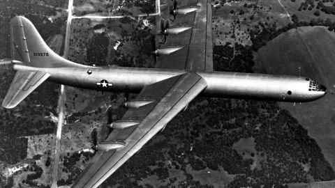 The Convair B-36 Peacemaker was a bomber used in by the United States Air Force during the 1950s. Before 1955, it was used primarily for nuclear weapons delivery of Strategic Air Command.