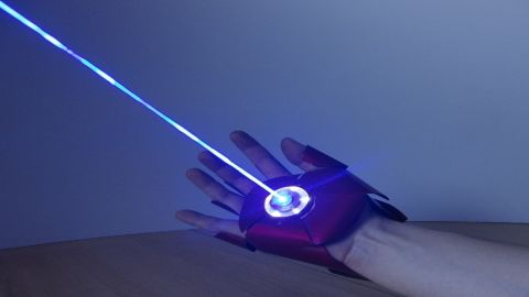 This dual-laser Iron Man glove is the latest project by German gadget enthusiast Patrick Priebe. He's been making gadgets from movies and video games since 2010.