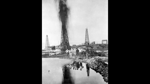 The Lakeview Gusher could be seen from miles away as it spewed oil for 544 days.