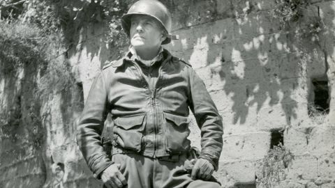American military commander General Lucian Truscott Jr. (1895-1965), France, 1944. This photo was used on the cover of the October 2, 1944, issue of Life magazine.