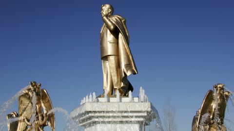 Another image in our series of statues in honor of Niyazov.