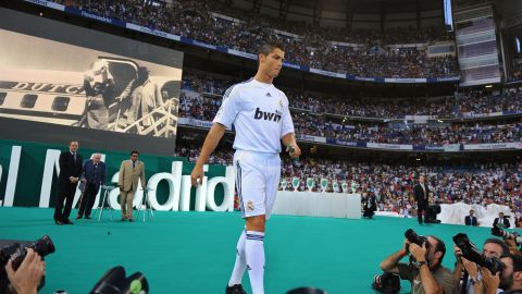 """In 2008 Blatter was ridiculed after defending the desire of Manchester United's highly-paid star Cristiano Ronaldo to join Real Madrid. He said: """"I think in football there's too much modern slavery in transferring players or buying players here and there, and putting them somewhere."""" In 2013 he had to apologize to Ronaldo after a bizarre impersonation of the Madrid star."""