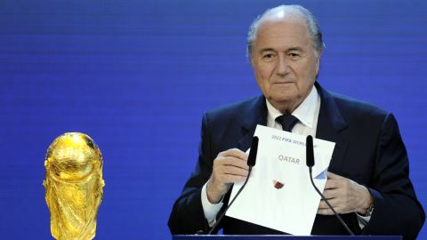 """In December 2010, Blatter was heavily criticized for suggesting gay football fans should """"refrain from sexual activity"""" if they wished to attend the 2022 World Cup in Qatar, where homosexuality is illegal. Blatter later apologized and said it had not been his intention to offend or discriminate."""