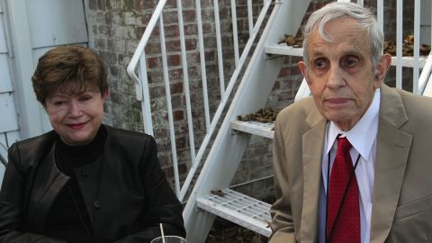 John Nash and wife Alicia Nash attend the Nobel Laureate Exhibition Reception during the 20th Hamptons International Film Festival at The Maidstone Hotel on October 5, 2012 in East Hampton, New York.
