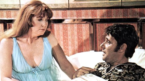 """Anne Meara appears with Harry Guardino in """"Lovers and Other Strangers"""" circa 1970."""