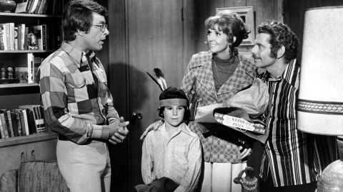 """Meara made an appearance with Jerry Stiller in the TV series """"Courtship of Eddie's Father,"""" along with Bill Bixby, left, and Brandon Cruz."""